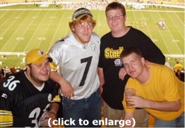 Steelers Game Group Shot - Dietz's butt smells like yellow lollypops with a hint of jared juice and mike milk